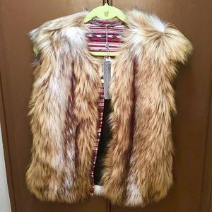 Faux Fur Vest Twelfth St. By Cynthia Vincent SizeM